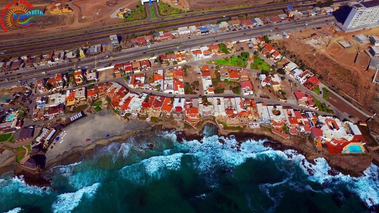 Paul A Weekes aerial view of home in Mexico